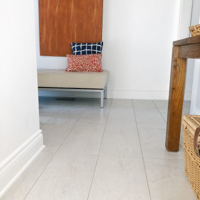 New Tile Flooring For The Busy Areas In Our House