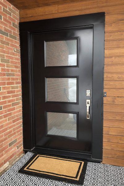 Mid Century modern style front door