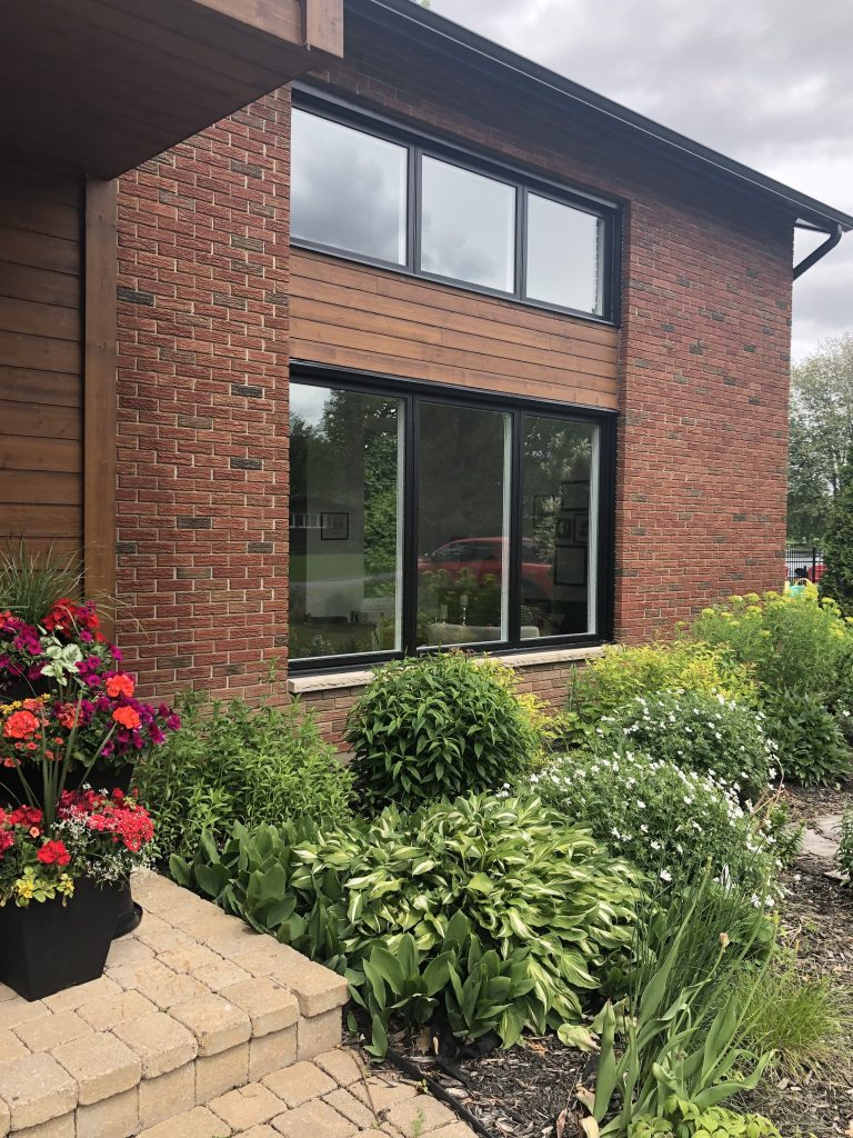 We are so pleased with the look of the new slim black windows