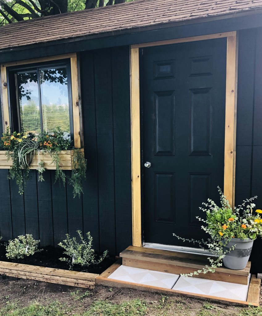 I am leaving the shed door black for now, but I am itching to paint is something fun.  Any suggestions?