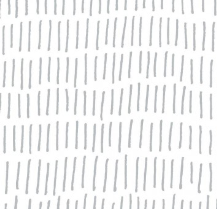 I love the movement in this new tick mark pattern wallpaper from @roommatesdecor