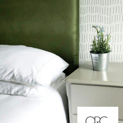 Bed Reupholster in Luscious Green Velvet ORC Week 5