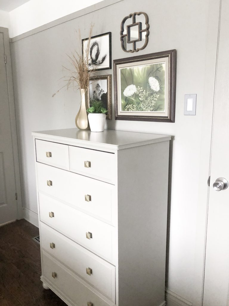 We painted both of our existing dressers the same colour as the walls and I like the seamless look that gives.