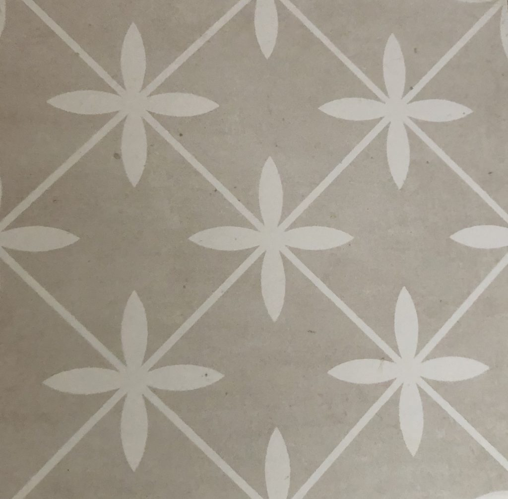 This star-like tile from Olympia Tile was the first thing I chose for the family bathroom.  I really gravitated to it for some reason.