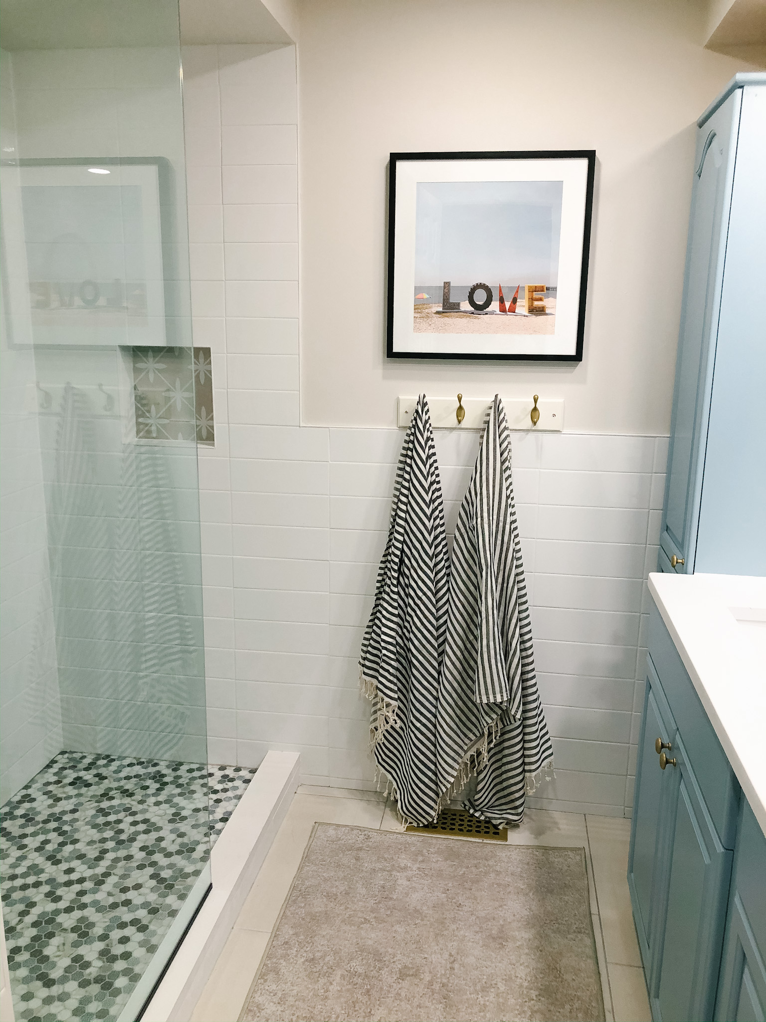 This new shower is a dream compared to the old one. It drains to start.
