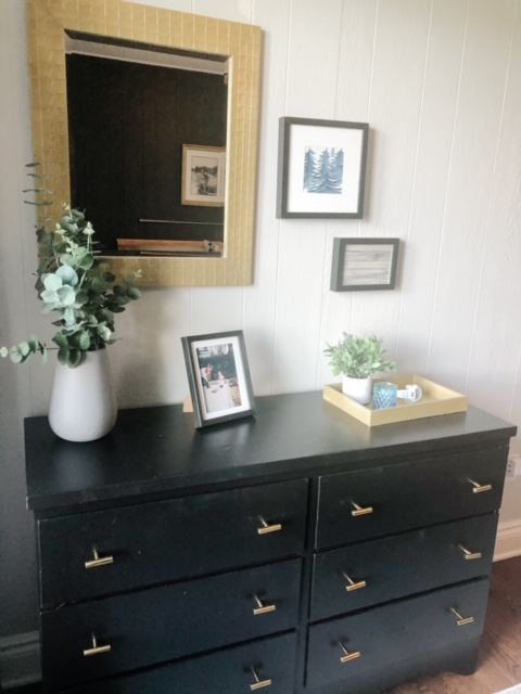 Nana was pleased with the update on this dresser that was hers that we also had in the basement.