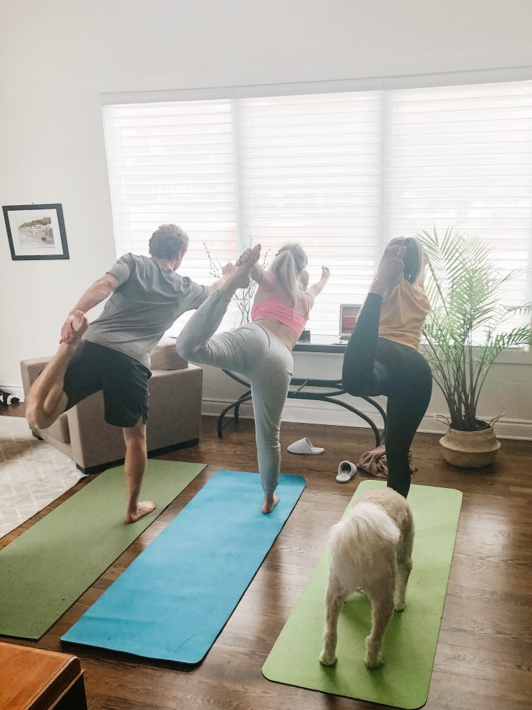 I love this shot from the daily yoga practice