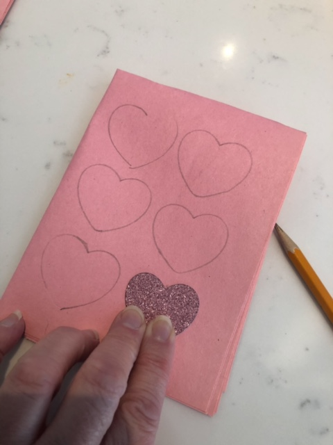 I enjoyed cutting out some hearts as I have not done a craft for a while.It is great to make some easy Valentine's Day decorations.