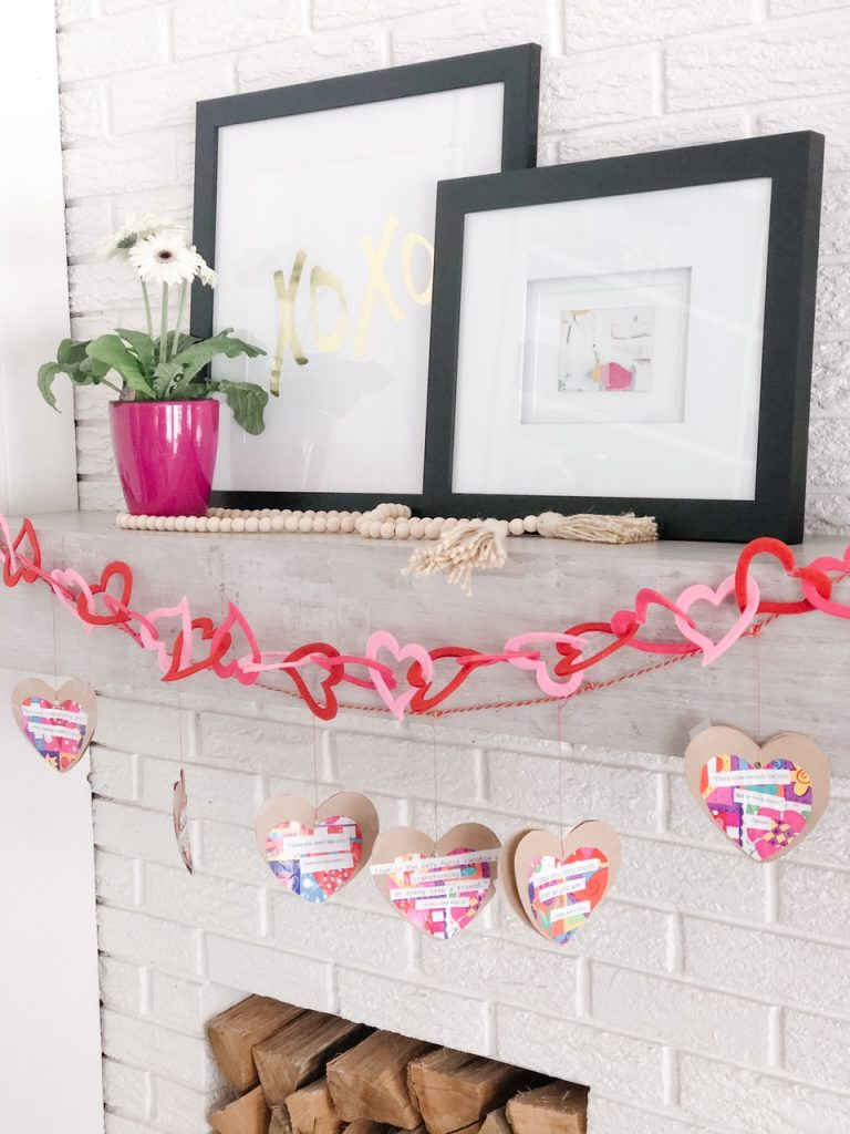 The love quote garland adds a little bit of sunshine and love to this little corner of my home.  I hope it does the same for yours